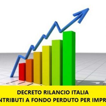 Decreto RILANCIO : contributi a fondo perduto per le imprese