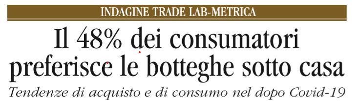 L'ARTE BIANCA n.12: i consumatori tornano nelle botteghe sottocasa?