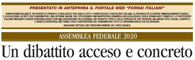 L'ARTE BIANCA n. 20: ASSEMBLEA FEDERALE E DPCM 24 OTTOBRE 2020