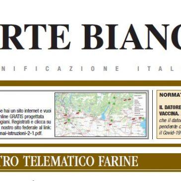 L'ARTE BIANCA n. 2 : sempre in primo piano il registro telematico delle farine