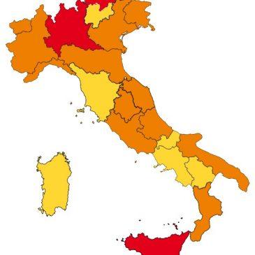GOVERNO: AGGIORNATE LE FAQ (domande & risposte) sul colore delle Regioni