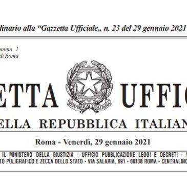 PUBBLICATO IN GAZZETTA IL DECRETO RIAPERTURE (DL 18 maggio 2021, n. 65)
